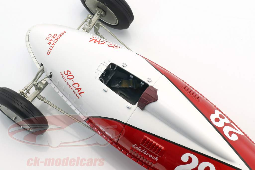 So-Cal Speed Shop Belly Tanker #28 rosso / bianco 1:18 GMP