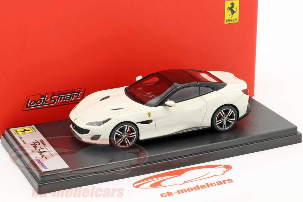 Ferrari Portofino année de construction 2017 blanc / noir 1:43 LookSmart