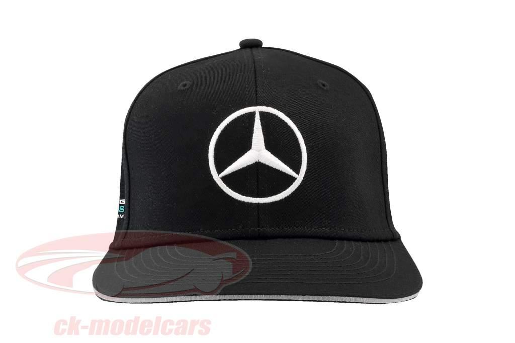 Valtteri Bottas Mercedes AMG Petronas F1 Team Flat Brim Cap nero