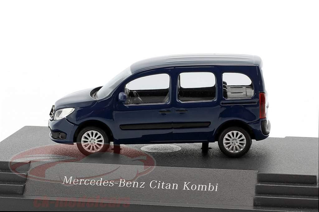 Mercedes-Benz Citan Kombi inks blue 1:87 busch