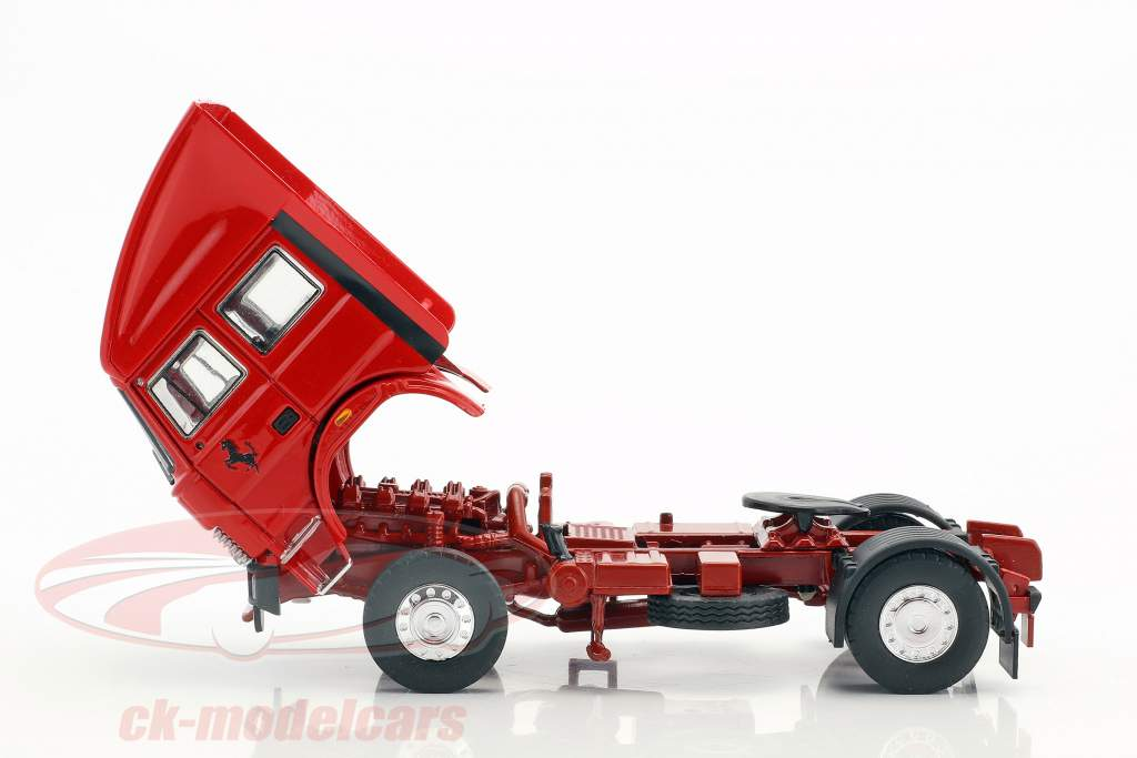 Set racing transporter Fiat Iveco 190 and Ferrari 126C2 Plus #27, #28 San Marino GP F1 1982 1:43 Brumm