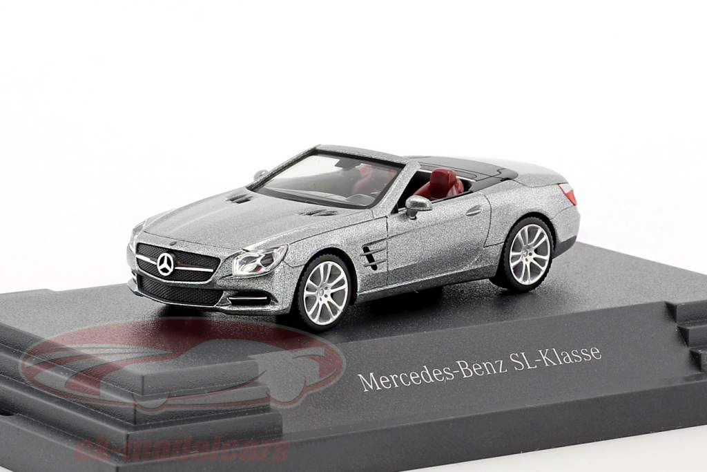 Mercedes-Benz SL-Klasse palladium silver metallic 1:87 Herpa