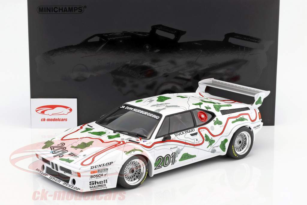 BMW M1 Gr.4 #201 3 1000km Nürburgring 1980 Stuck / Piquet 1:12 Minichamps