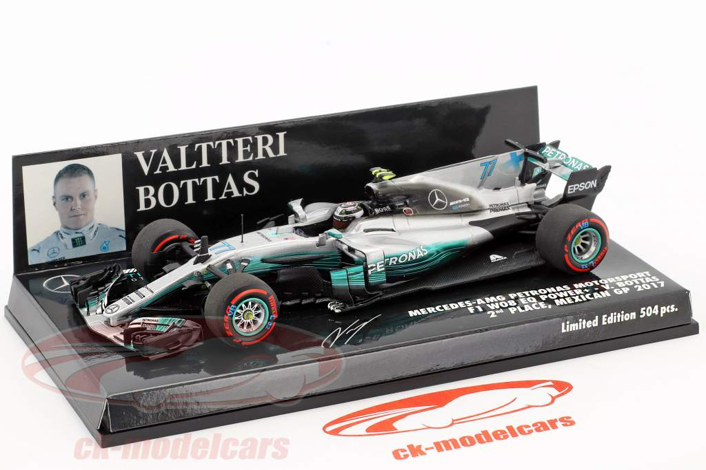 Valtteri Bottas Mercedes F1 W08 EQ Power  #77 2 ° Mexiko GP F1 2017 1:43 Minichamps