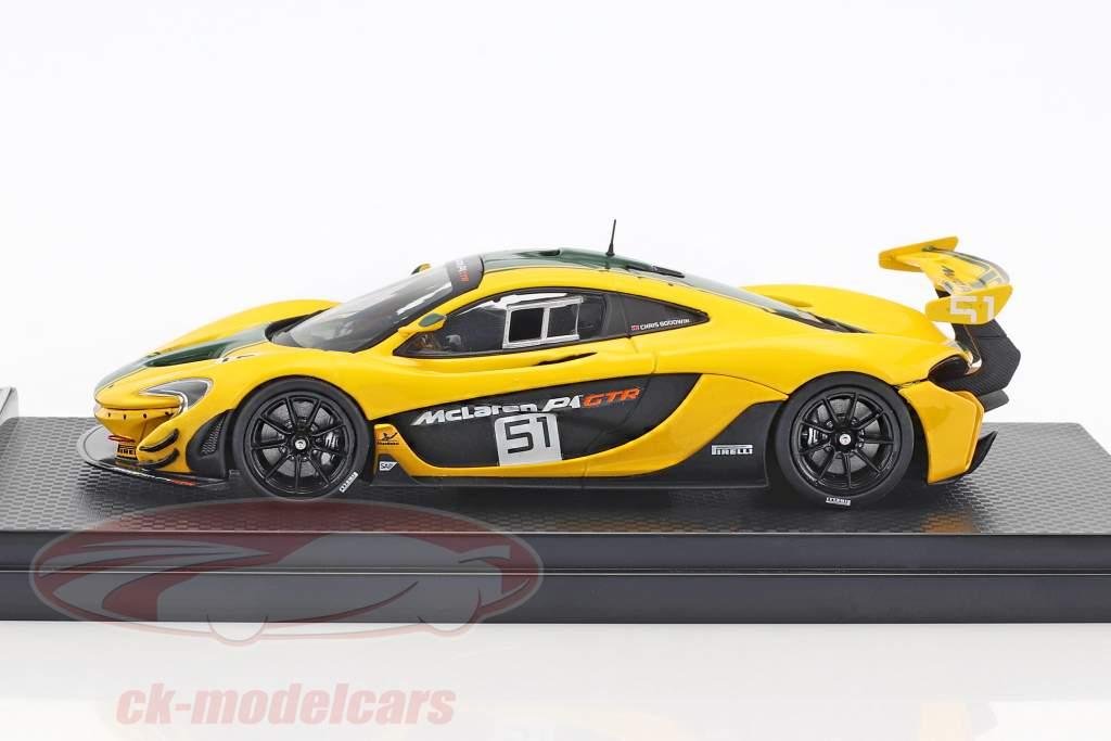 McLaren P1 GTR #51 motore spettacolo Ginevra 2015 giallo / verde 1:43 Almost Real