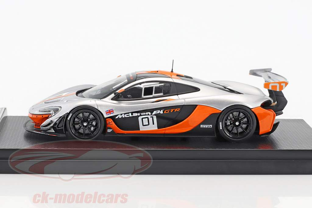McLaren P1 GTR #01 Design Concept Car Pebble Beach 2014 argent / orange 1:43 Almost Real
