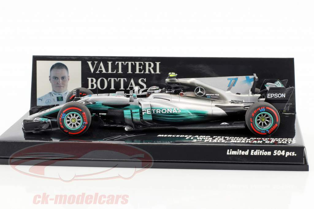 Valtteri Bottas Mercedes F1 W08 EQ Power  #77 2nd Mexiko GP F1 2017 1:43 Minichamps