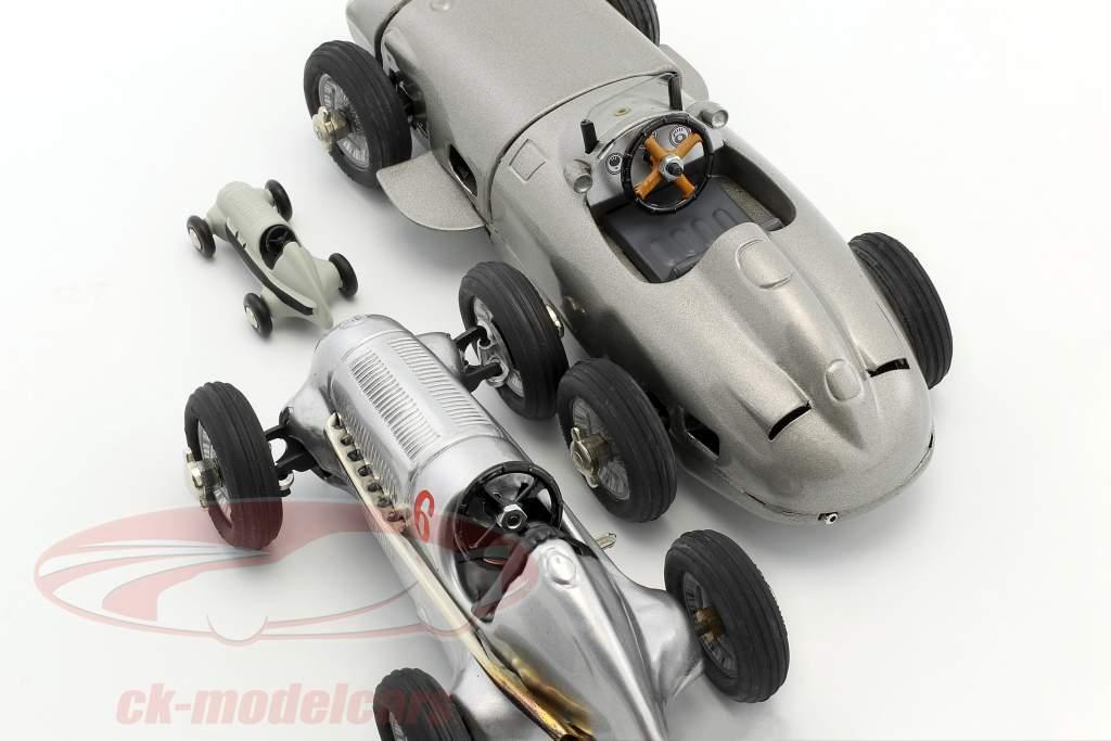 3-Car set Kompressor Studio 1 + Studio VII + Piccolo Studio silver / grau 1:18 Schuco