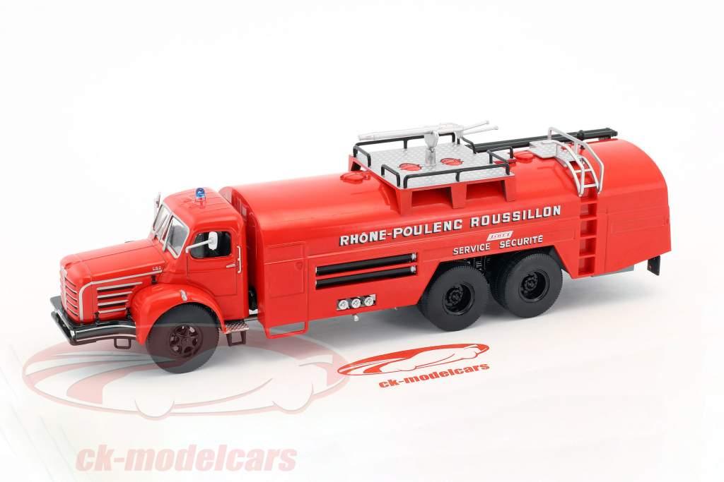 Berliet GBO Sides VMR 130 fire Department Truck France red 1:43 Atlas