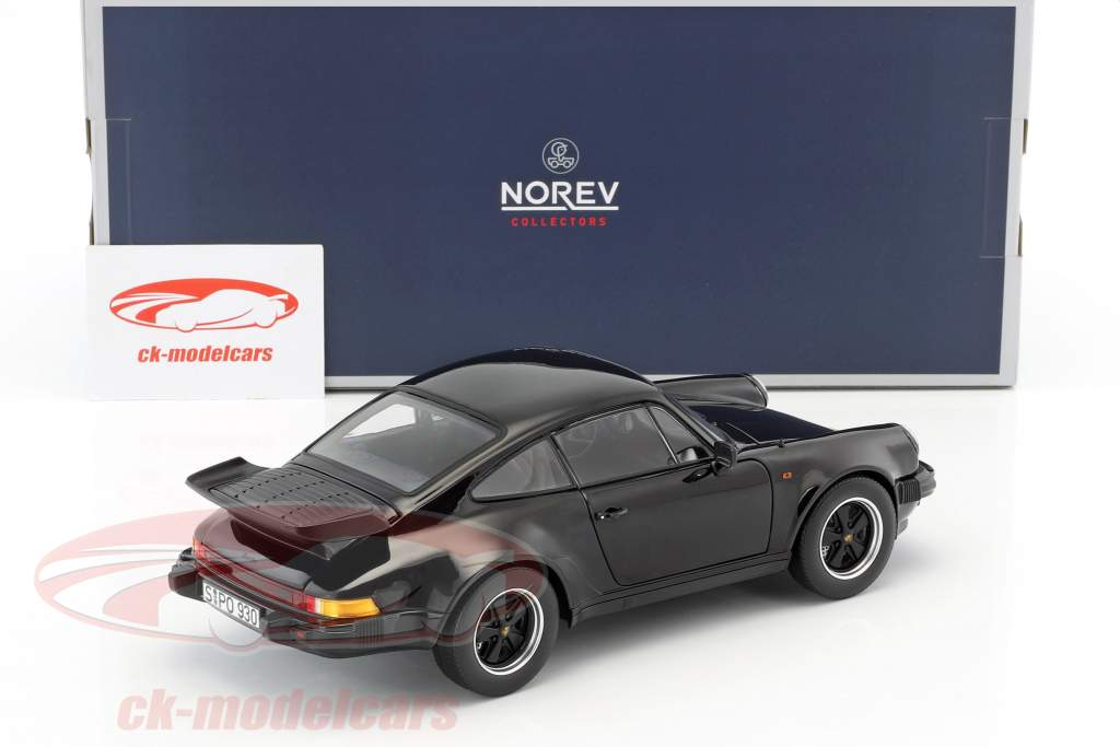 Porsche 911 (930) Turbo 3.3 year 1977 black 1:18 Norev