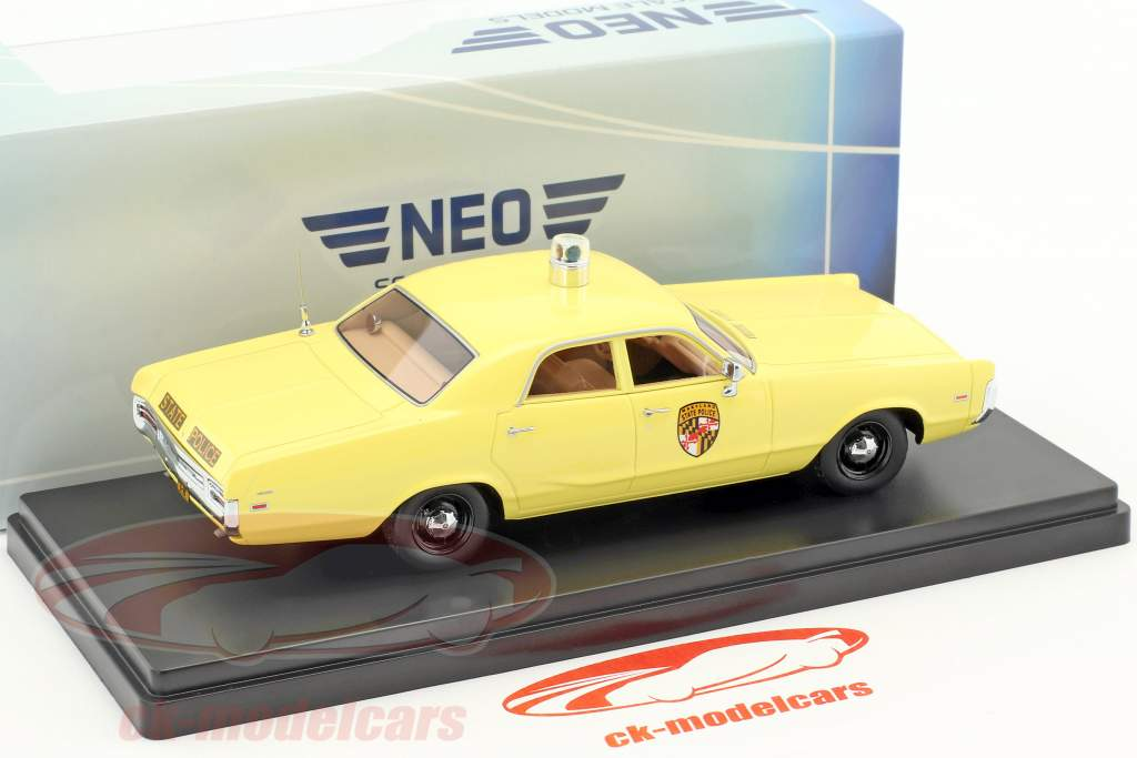 Dodge Polara Maryland State Police year 1972 yellow 1:43 Neo