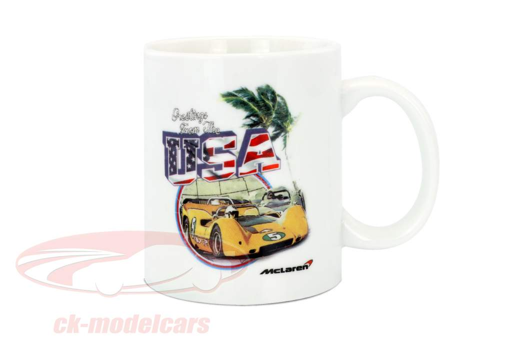 McLaren Greetings from USA Can-Am tazza bianco