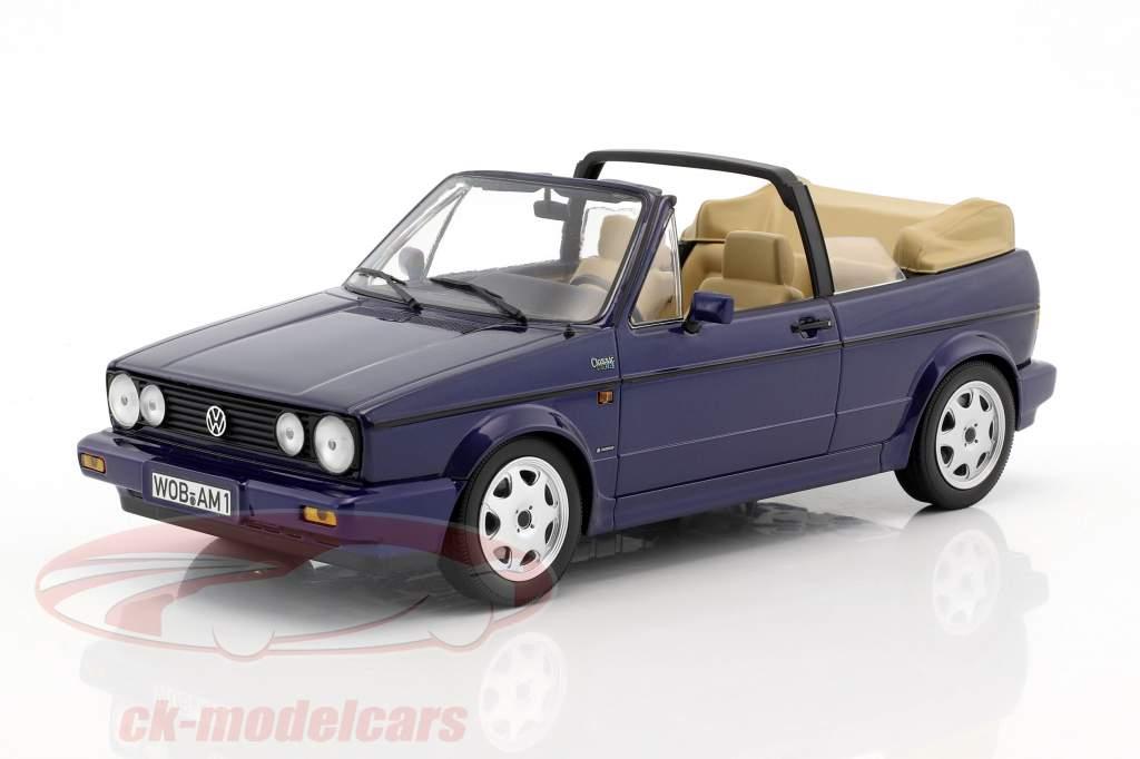 Volkswagen VW Golf Cabriolet anno di costruzione 1992 blu scuro metallico 1:18 Norev