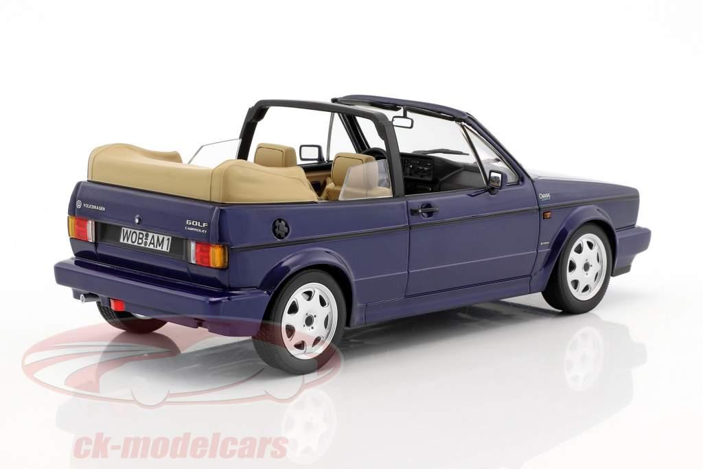 """Volkswagen VW Golf Cabriolet """"Erdbeerkörbchen"""" year 1992 dark blue metallic 1:18 Norev"""