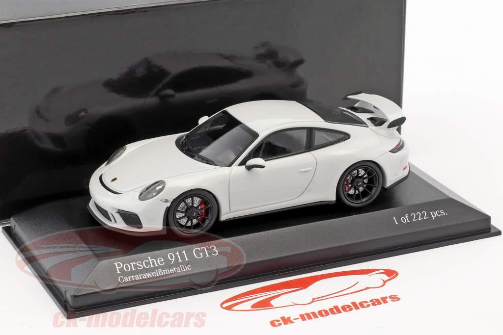 Porsche 911 (991 II) GT3 année de construction 2017 Carrare blanc métallique 1:43 Minichamps