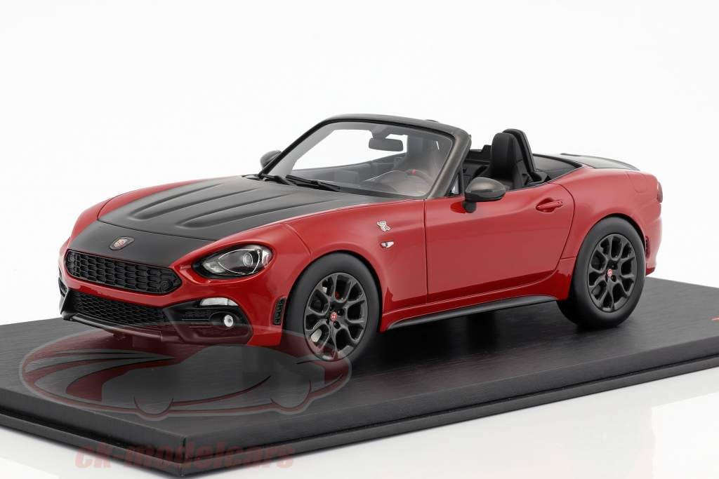 Abarth 124 Spider Costa Brava 1972 rouge 1:18 TrueScale