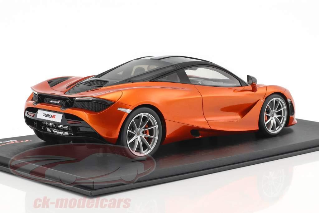 McLaren 720S Azores 2017 orange metallic 1:18 TrueScale