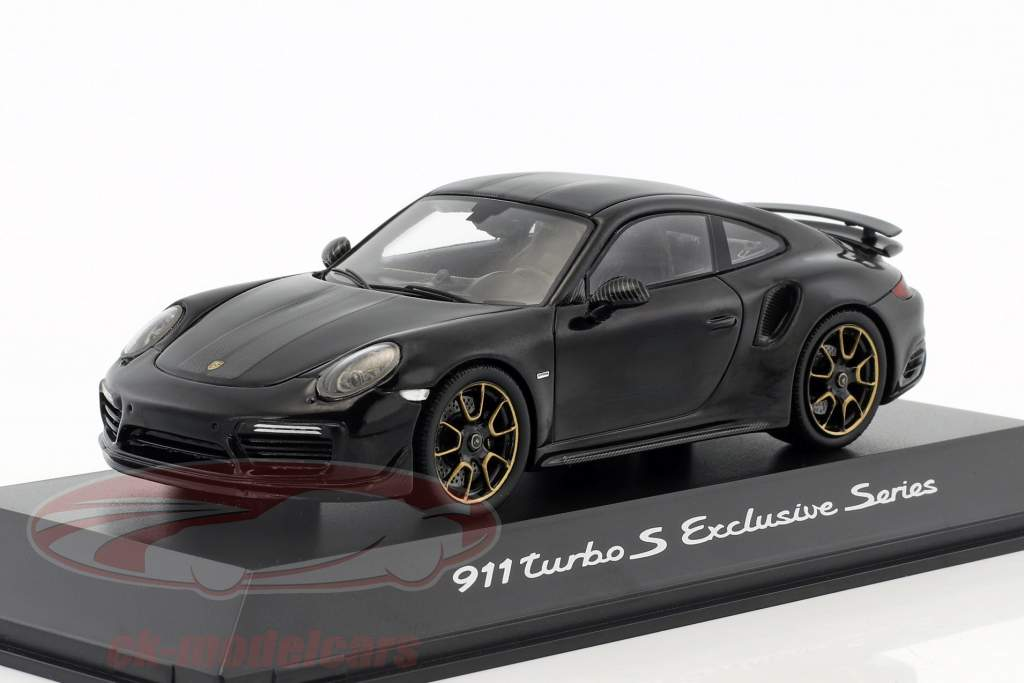 Porsche 911 (991) Turbo S Exclusives Series schwarz metallic 1:43 Spark