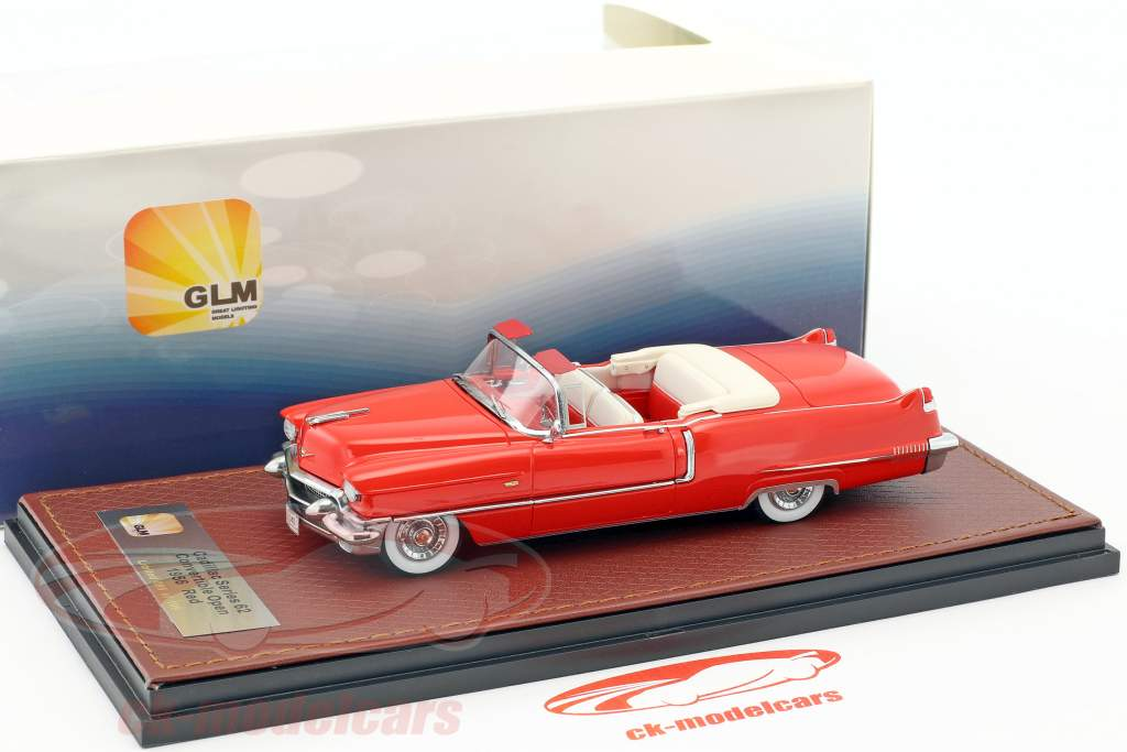 Cadillac Series 62 Convertible Open Top year 1956 red 1:43 GLM