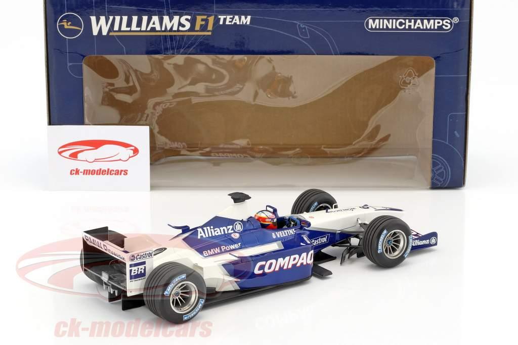Juan Pablo Montoya Williams BMW F24 #6 Launch Car formula 1 2002 1:18 Minichamps