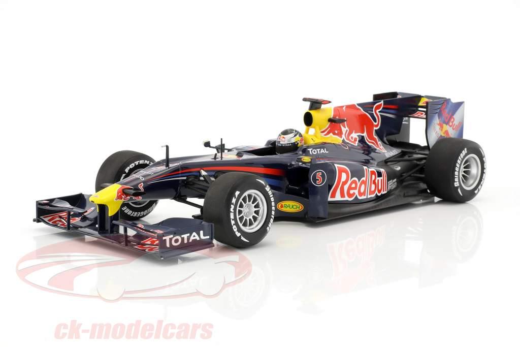 Sebastian Vettel Red Bull Renault RB5 #5 showcar formula 1 2010 1:18 Minichamps