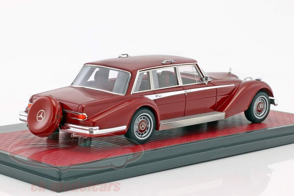 Mercedes-Benz 600 (W100) Buchmann & Buchmann année de construction 1980 sombre rouge 1:43 Matrix