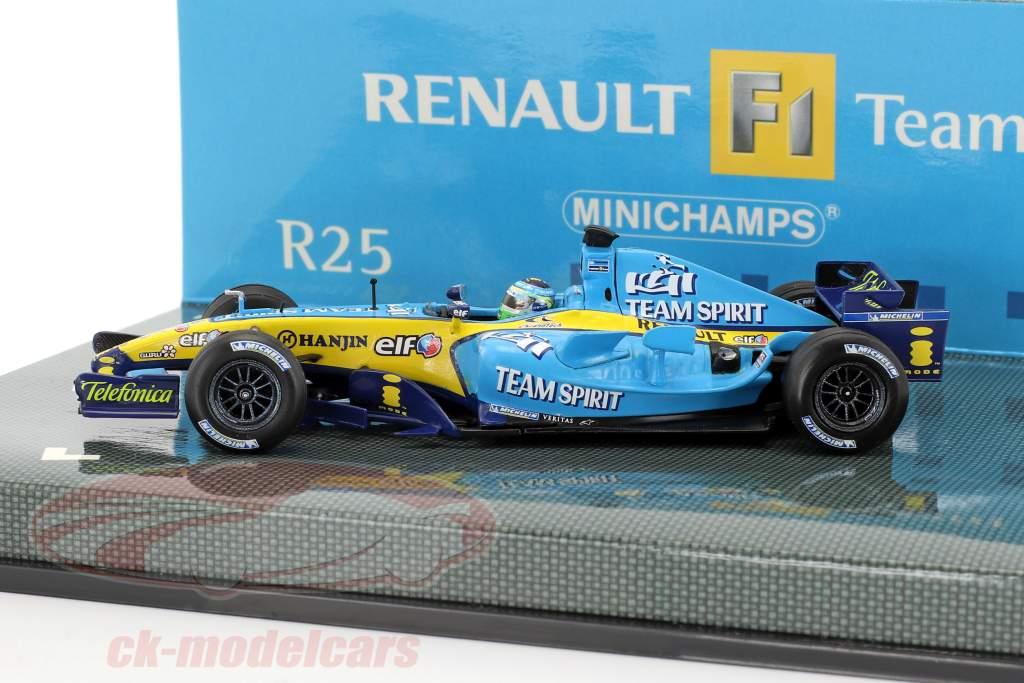 Giancarlo Fisichella Renault R25 #6 formule 1 2005 1:43 Minichamps
