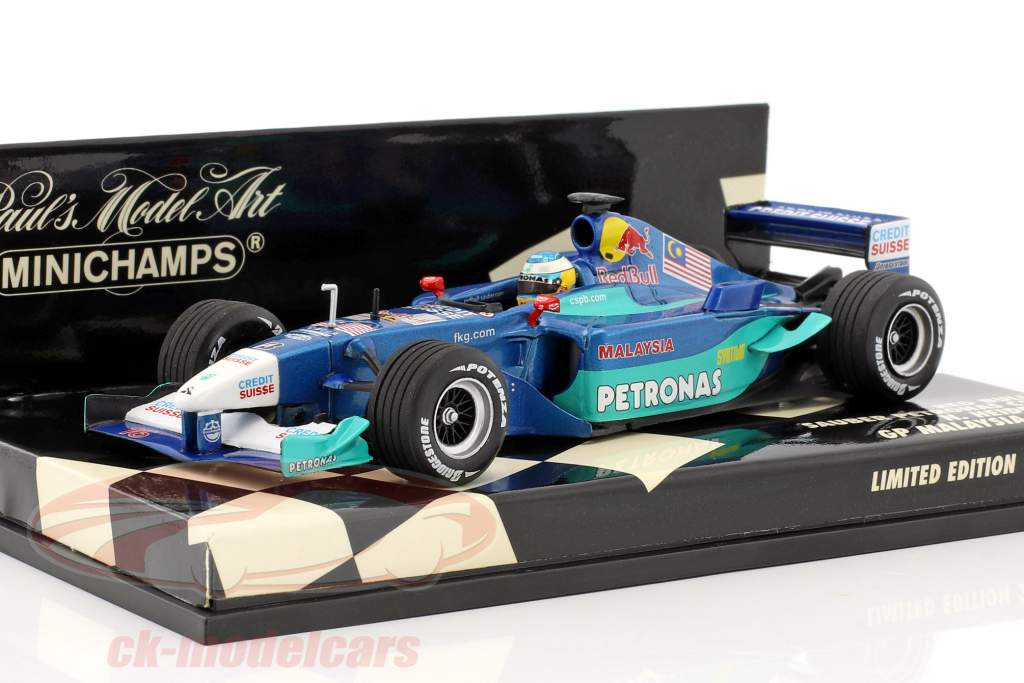 Nick Heidfeld Sauber C20 #16 GP Malaisie formule 1 2001 1:43 Minichamps