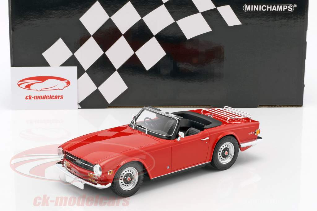 Triumph TR6 Roadster RHD year 1969 red 1:18 Minichamps