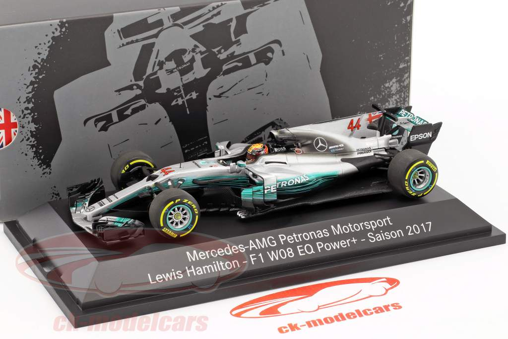 Lewis Hamilton Mercedes F1 W08 EQ Power  #44 World Champion Formel 1 2017 1:43 Minichamps