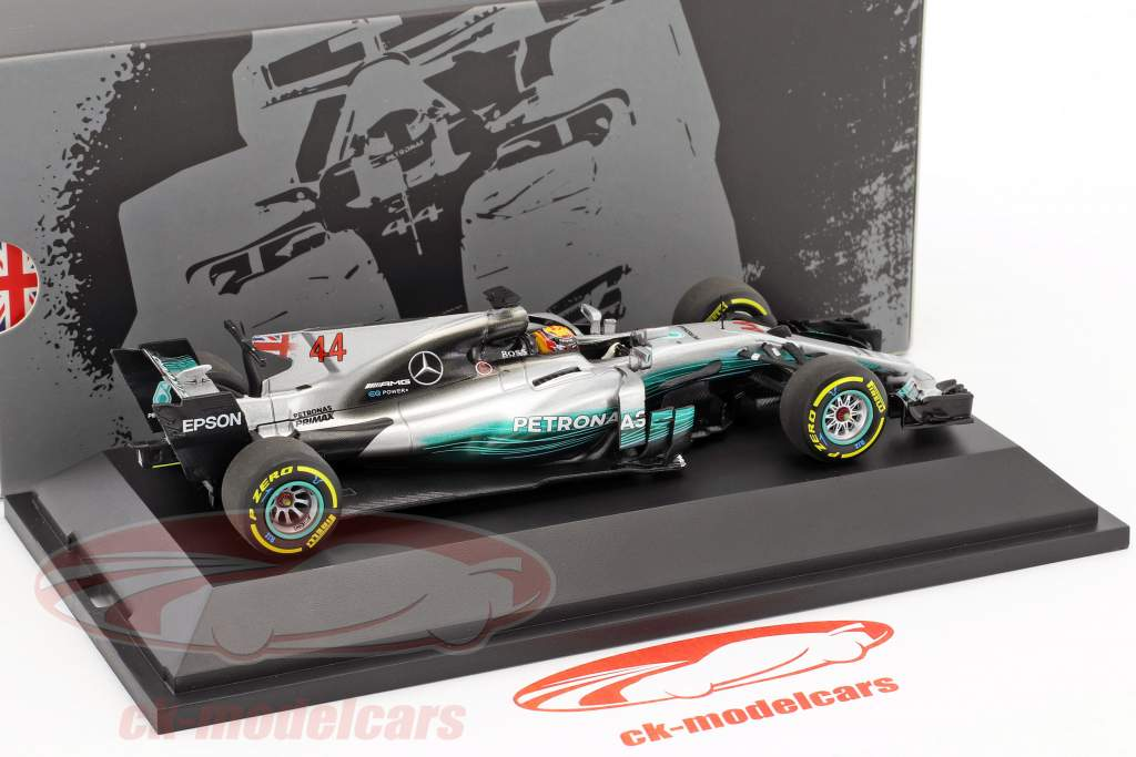 Lewis Hamilton Mercedes F1 W08 EQ Power  #44 champion du monde Formel 1 2017 1:43 Minichamps