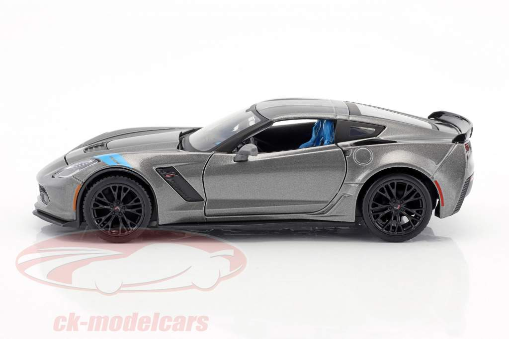 Chevrolet Corvette Grand Sport année 2017 gris / noir 1:24 Maisto