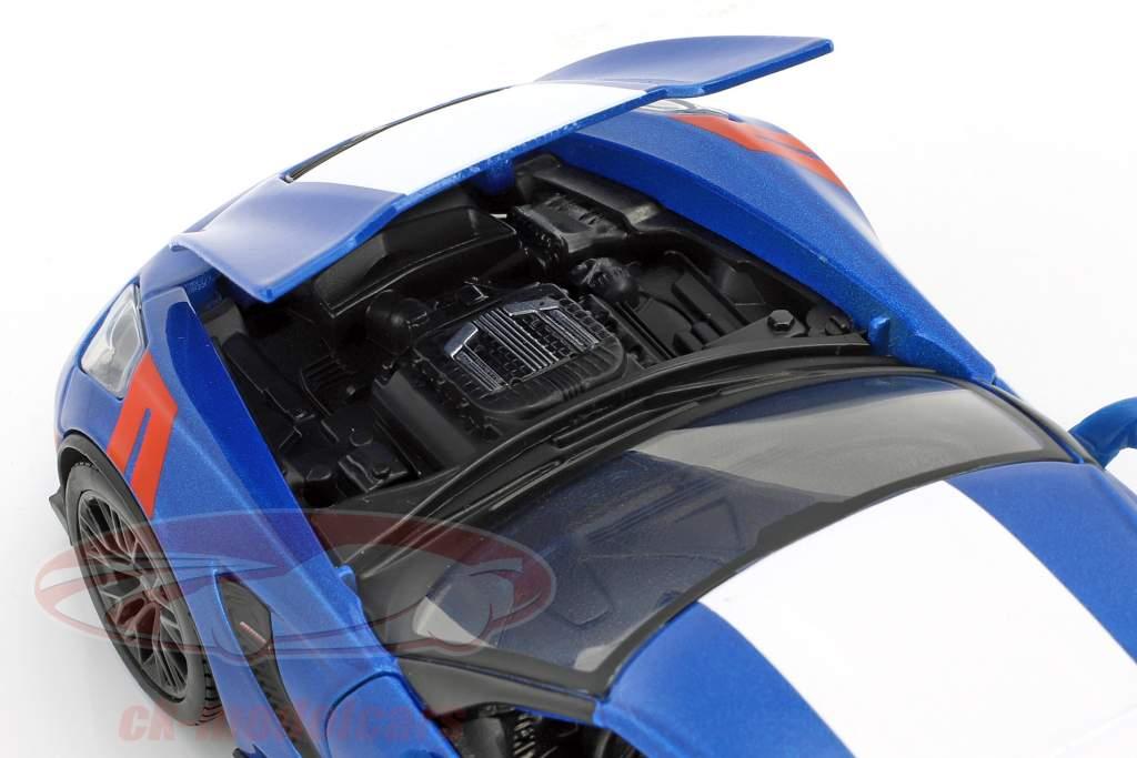 Chevrolet Corvette Grand Sport year 2017 blue / white 1:24 Maisto