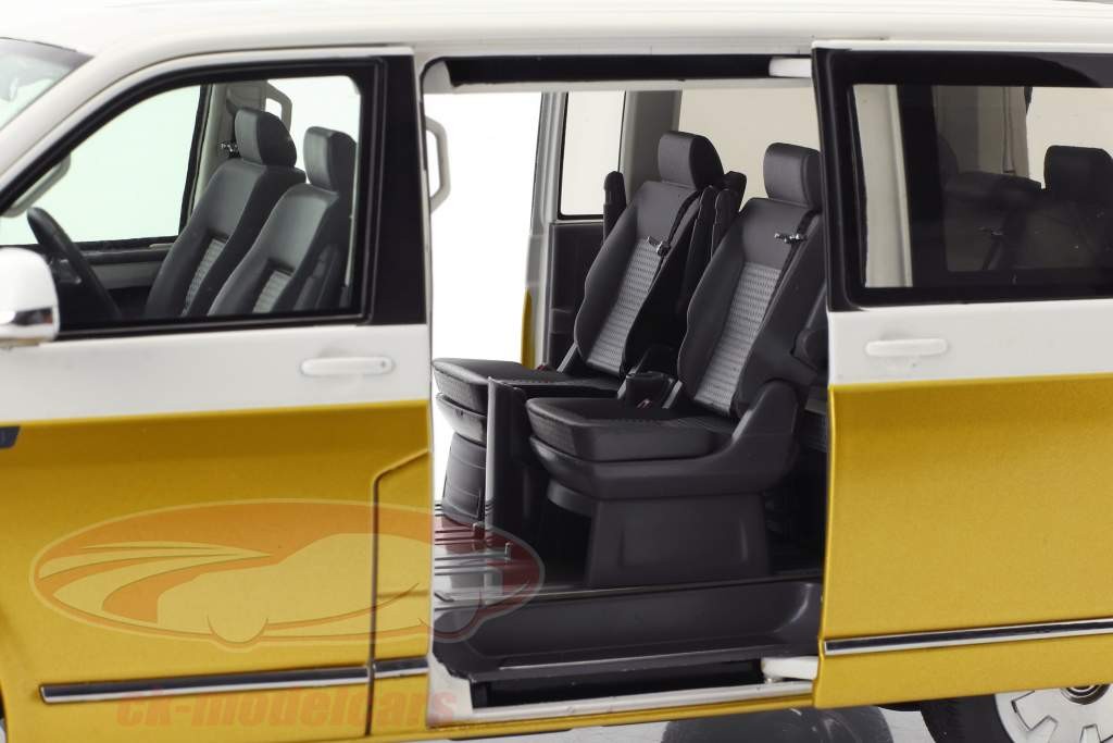 Volkswagen VW T6 Multivan 70 years Bulli  white / kurkuma yellow 1:18 NZG
