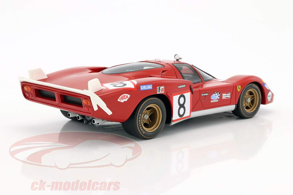 Ferrari 512S Long Tail #8 24h LeMans 1970 Merzario, Regazzoni 1:18 CMR