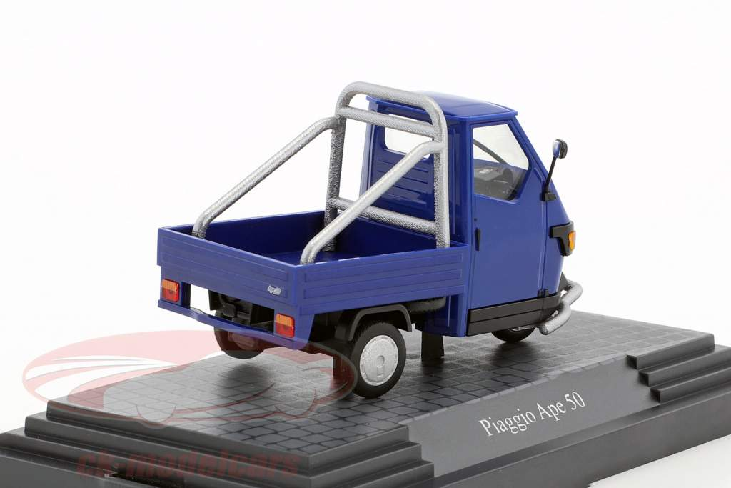 Piaggio Ape 50 Cross Country bleu 1:43 Busch