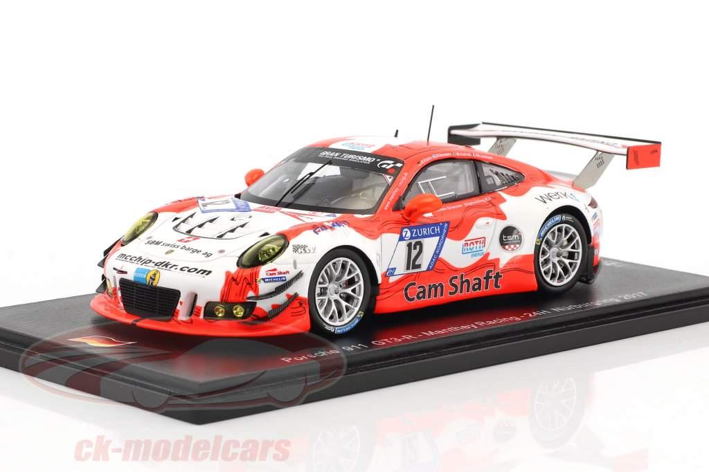 Porsche 911 GT3 R #12 24h Nürburgring 2017 Manthey Racing 1:43 Spark