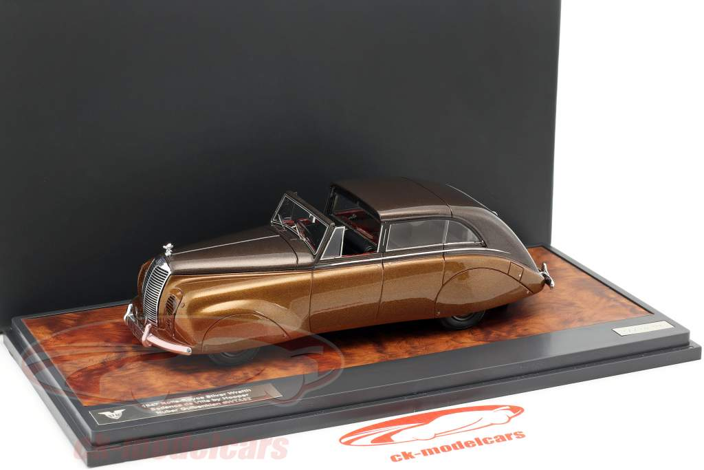 Rolls Royce Silver Wraith Sedanca de Ville by Hooper Construction year 1947 brown metallic 1:43 Matrix