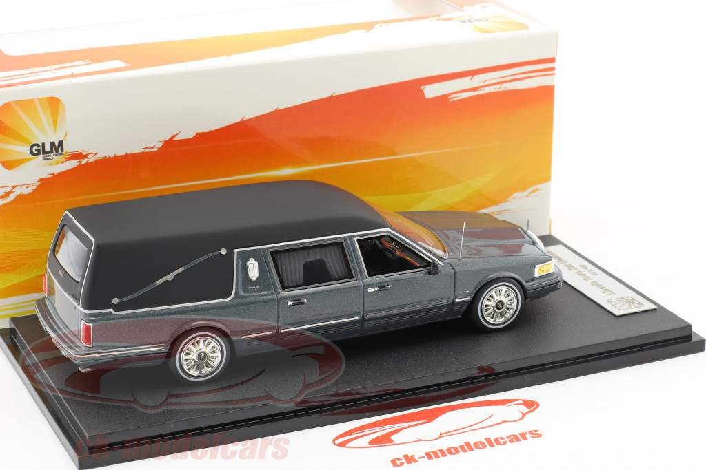 Lincoln Town Car Hearse year 1997 grey metallic 1:43 GLM