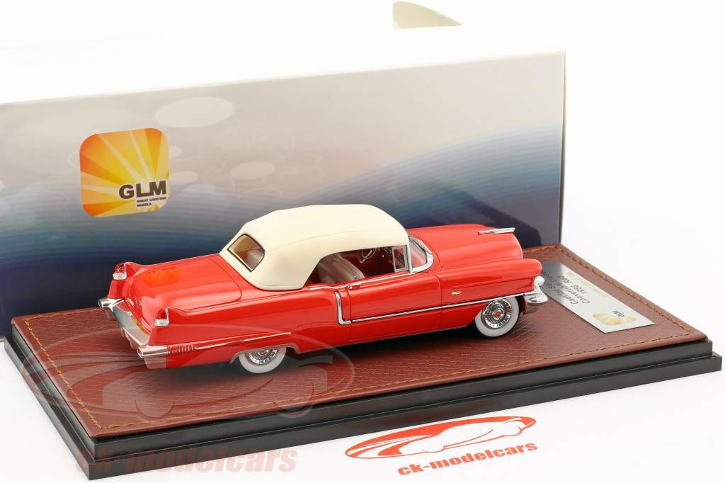 Cadillac Series 62 Convertible Closed Top year 1956 red / white 1:43 GLM