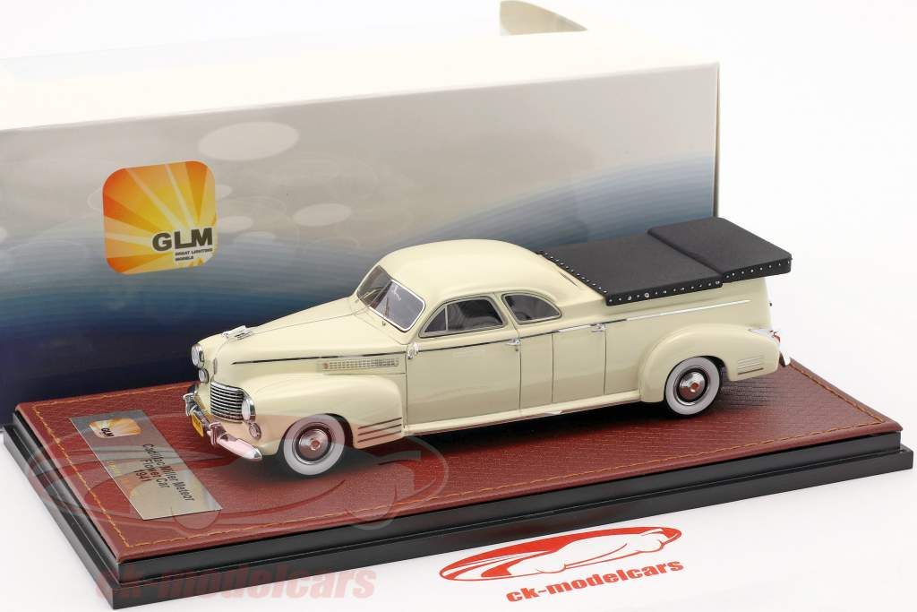 Cadillac Miller Meteor Flower Car year 1941 white 1:43 GLM