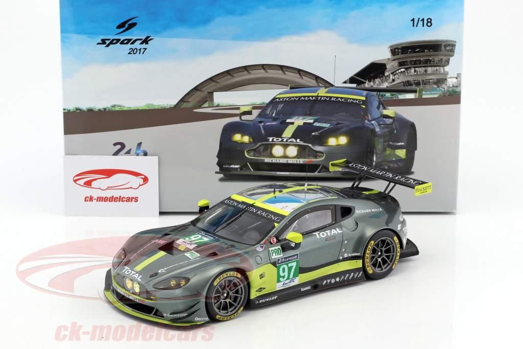 Aston Martin Vantage GTE #97 vincitore LMGTE Pro classe 24h LeMans 2017 Turner, Adam, Serra 1:18 Spark