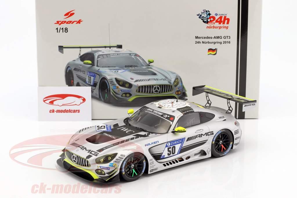 Mercedes-Benz AMG GT3 #50 24h Nürburgring 2017 HTP Motorsport 1:18 Spark