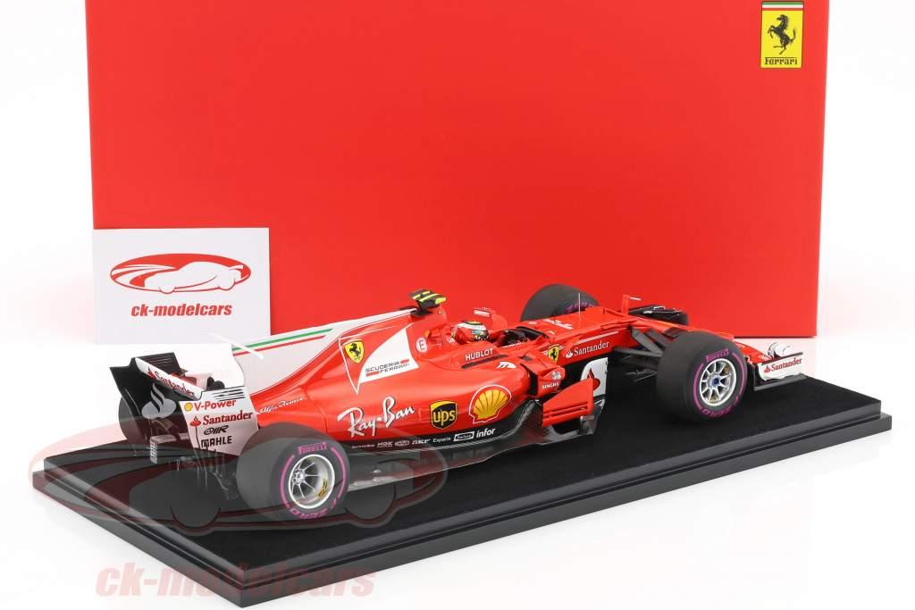 Kimi Räikkönen Ferrari SF70H #7 4th Australian GP formula 1 2017 With Showcase 1:18 LookSmart