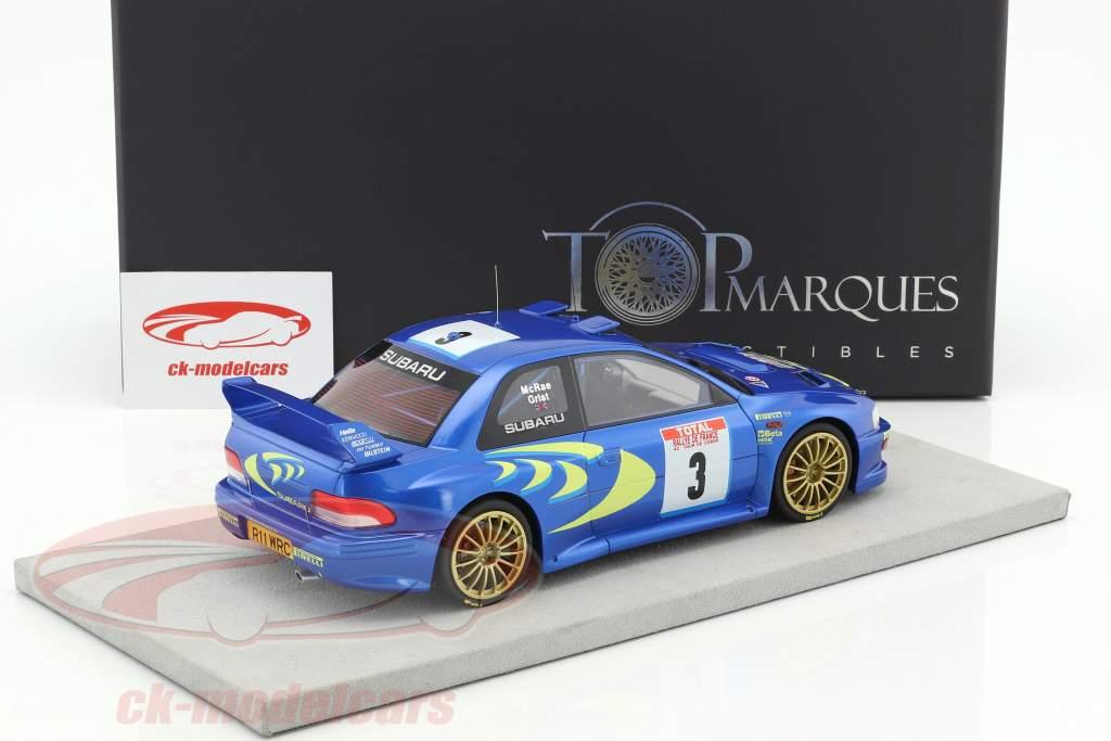 Subaru Impreza S4 WRC #3 vincitore Tour de Corse 1998 McRae, Grist 1:18 TopMarques