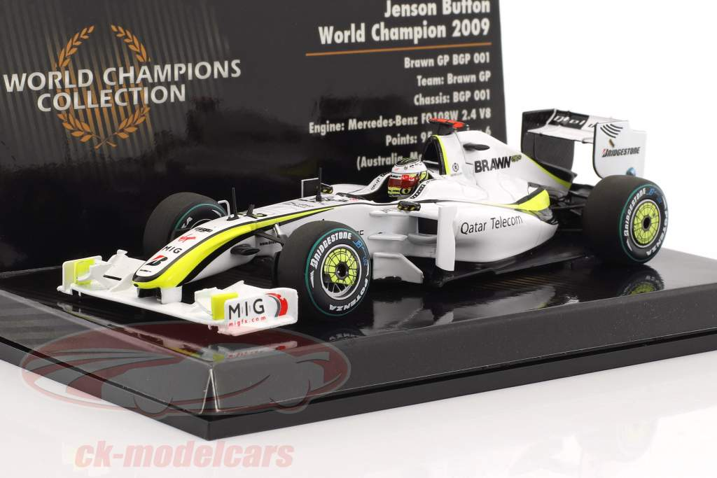 Jenson Button Brawn BGP 001 #22 World Champion Formel 1 2009 1:43 Minichamps