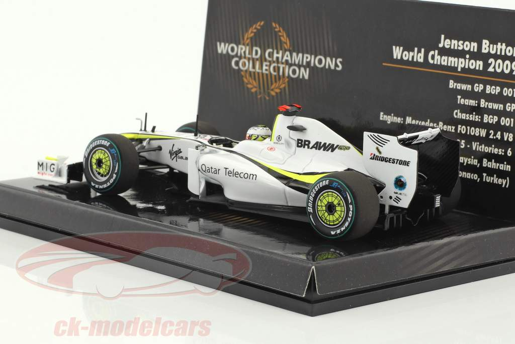 Jenson Button Brawn BGP 001 #22 champion du monde formule 1 2009 1:43 Minichamps