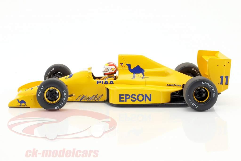 Nelson Piquet Lotus 101 #11 Großbritannien GP Formel 1 1989 1:18 Spark