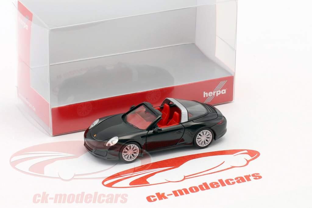 Porsche 911 (991) Targa 4S schwarz 1:87 Herpa