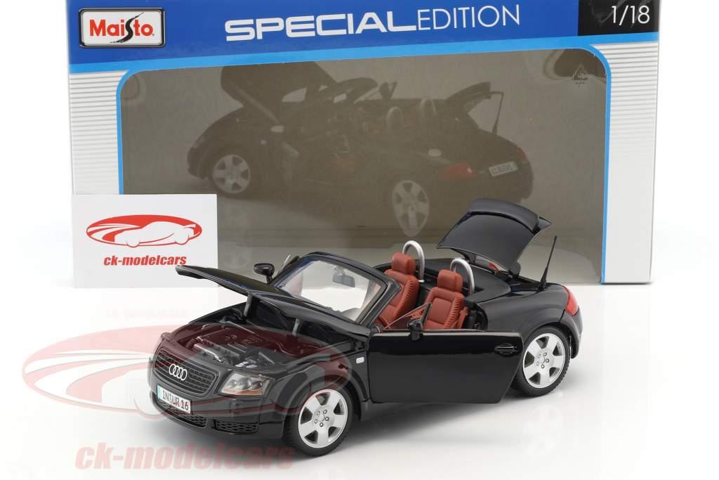 Audi TT Roadster year 1999 black 1:18 Maisto